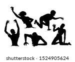 silhouette zombie in...   Shutterstock .eps vector #1524905624