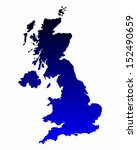 map of united kingdom | Shutterstock .eps vector #152490659