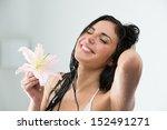 Woman Washing Herself While...