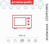 microwave oven linear icon.... | Shutterstock .eps vector #1524915851