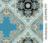 seamless paisley pattern with... | Shutterstock . vector #1524996797