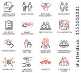 vector set of linear icons... | Shutterstock .eps vector #1525010231