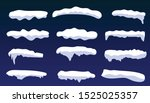 snow caps  snowballs and... | Shutterstock .eps vector #1525025357