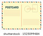 realistic retro postcard on... | Shutterstock .eps vector #1525099484