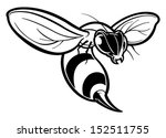 Wasp - stock vector