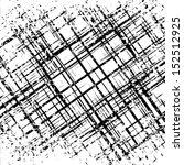 grunge grid black and white... | Shutterstock .eps vector #152512925