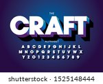vector of stylized modern font... | Shutterstock .eps vector #1525148444