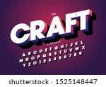 vector of stylized modern font... | Shutterstock .eps vector #1525148447