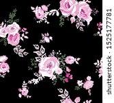 floral seamless pattern. flower ... | Shutterstock .eps vector #1525177781