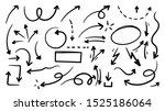 hand drawn arrow vector icons...   Shutterstock .eps vector #1525186064