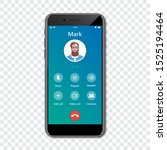 smartphone call app interface...
