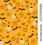 happy halloween wallpaper... | Shutterstock .eps vector #1525205684