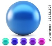 Blue Glossy Ball Vector...