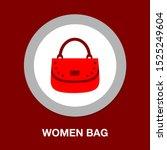vector women bag or purse... | Shutterstock .eps vector #1525249604
