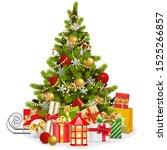vector christmas fir tree with...   Shutterstock .eps vector #1525266857