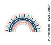 abstract ornate rainbow... | Shutterstock .eps vector #1525268804
