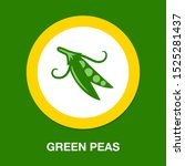 green vector peas illustration... | Shutterstock .eps vector #1525281437