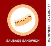 vector sausage illustration ... | Shutterstock .eps vector #1525281467