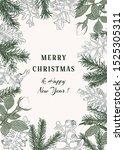 christmas botanical card.... | Shutterstock .eps vector #1525305311