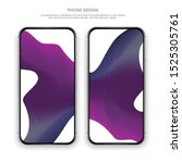 colorful phone template. vector ...