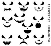 set halloween face icon for... | Shutterstock .eps vector #1525326581