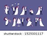 wedding couples. bride and... | Shutterstock . vector #1525331117