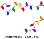 holiday light border | Shutterstock .eps vector #15253546