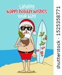 Summer Santa Claus  Sanding...