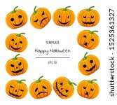 halloween frame for your text...   Shutterstock .eps vector #1525361327