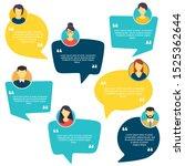 testimonial speech bubble... | Shutterstock .eps vector #1525362644