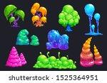 Fantasy Slime Plants. Alien...
