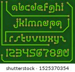 font print circuit board in the ... | Shutterstock .eps vector #1525370354