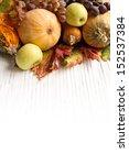 Composition Of Autumn Pumpkins...