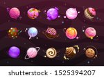 sweet world concept. food... | Shutterstock .eps vector #1525394207