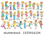 collection of funny kids....   Shutterstock .eps vector #1525416134