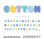 cartoon colorful font for kids. ... | Shutterstock .eps vector #1525424717
