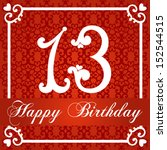 happy birthday card with number ... | Shutterstock .eps vector #152544515