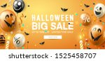 halloween sale promotion poster ... | Shutterstock .eps vector #1525458707