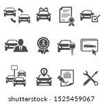 car dealership black glyph... | Shutterstock .eps vector #1525459067