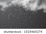 snow with snowflakes and clouds ... | Shutterstock .eps vector #1525465274