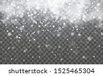snow with snowflakes and clouds ... | Shutterstock .eps vector #1525465304