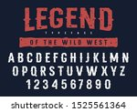 rough stamp typeface in wild...   Shutterstock .eps vector #1525561364