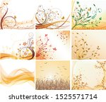 vector design abstract autumn... | Shutterstock .eps vector #1525571714