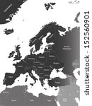 vector europe map with country... | Shutterstock .eps vector #152560901