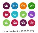 shopping basket circle icons on ...