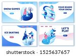 winter sports landing page... | Shutterstock .eps vector #1525637657