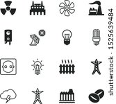 energy vector icon set such as  ... | Shutterstock .eps vector #1525639484