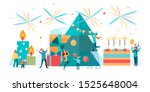 poster congratulations on the... | Shutterstock . vector #1525648004