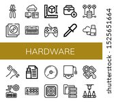 hardware icon set. collection... | Shutterstock .eps vector #1525651664