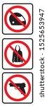 no helmet sign  no jacket sign... | Shutterstock .eps vector #1525653947